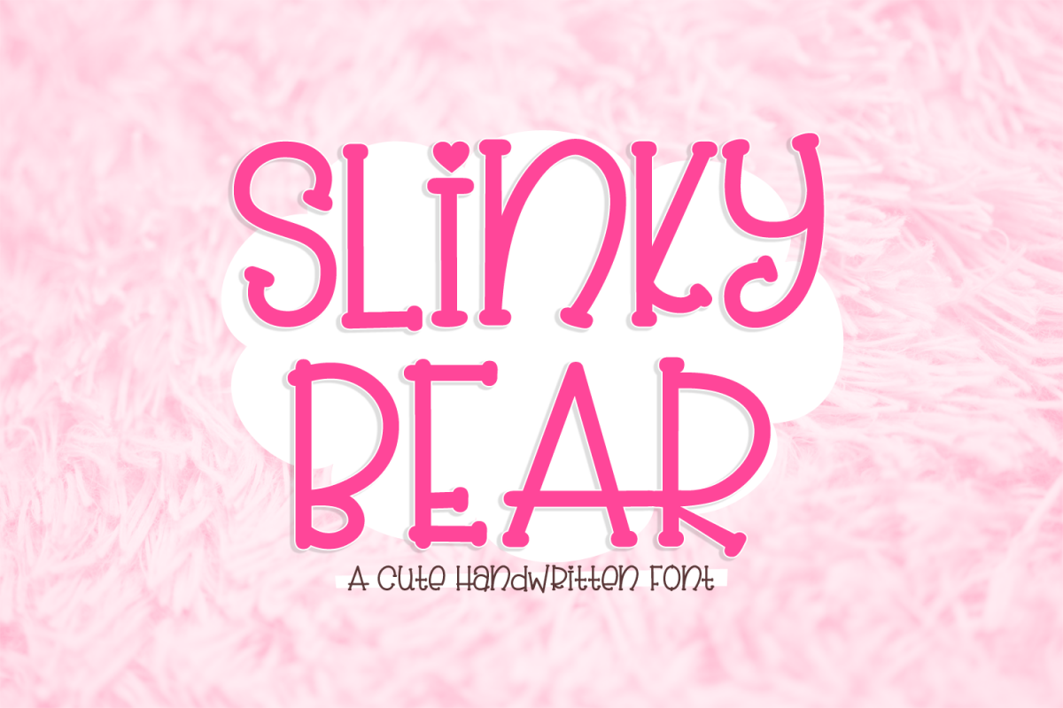 Slinky Bear - a cute handwritten font example image 1