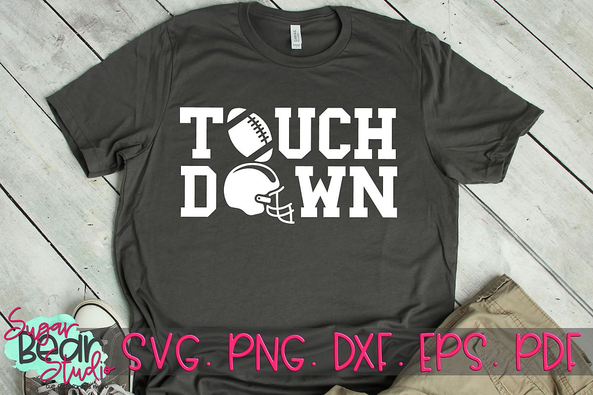 Touch Down - A Football SVG example image 1