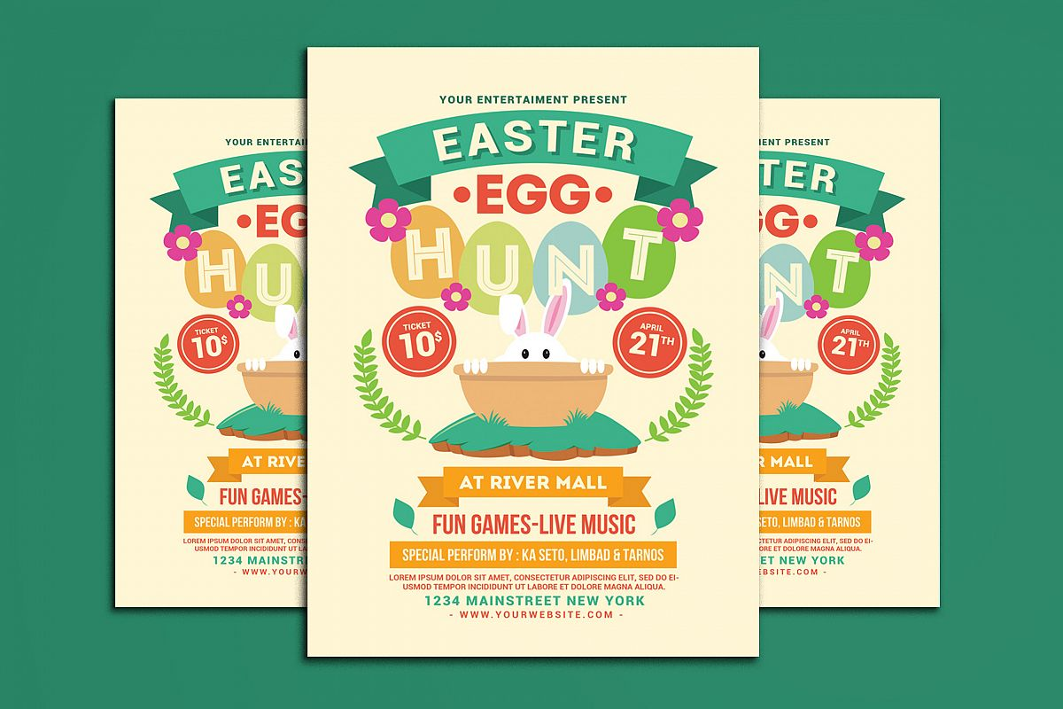 Easter Egg Hunt Flyer example image 1