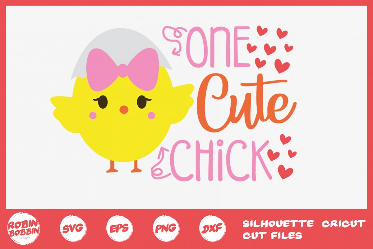 Easter svg, One Cute Chick svg, Baby onesie easter svg example image 1