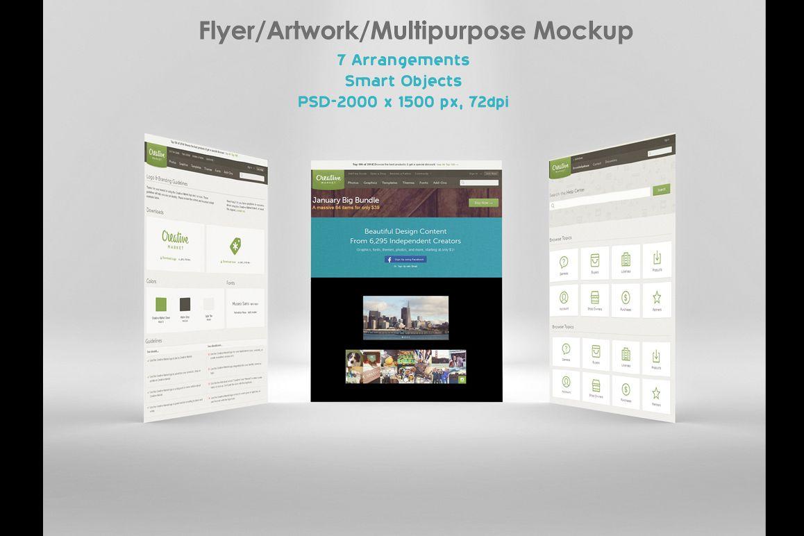 Flyer/ Artwork/ Multipurpose Mockup example image 1