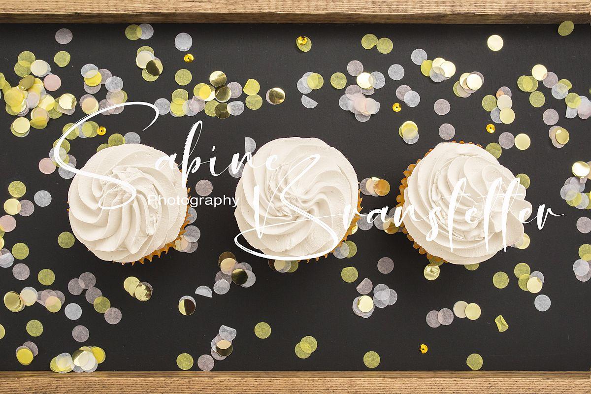 Styled Stock Photography Three Cupcakes Mockup example image 1