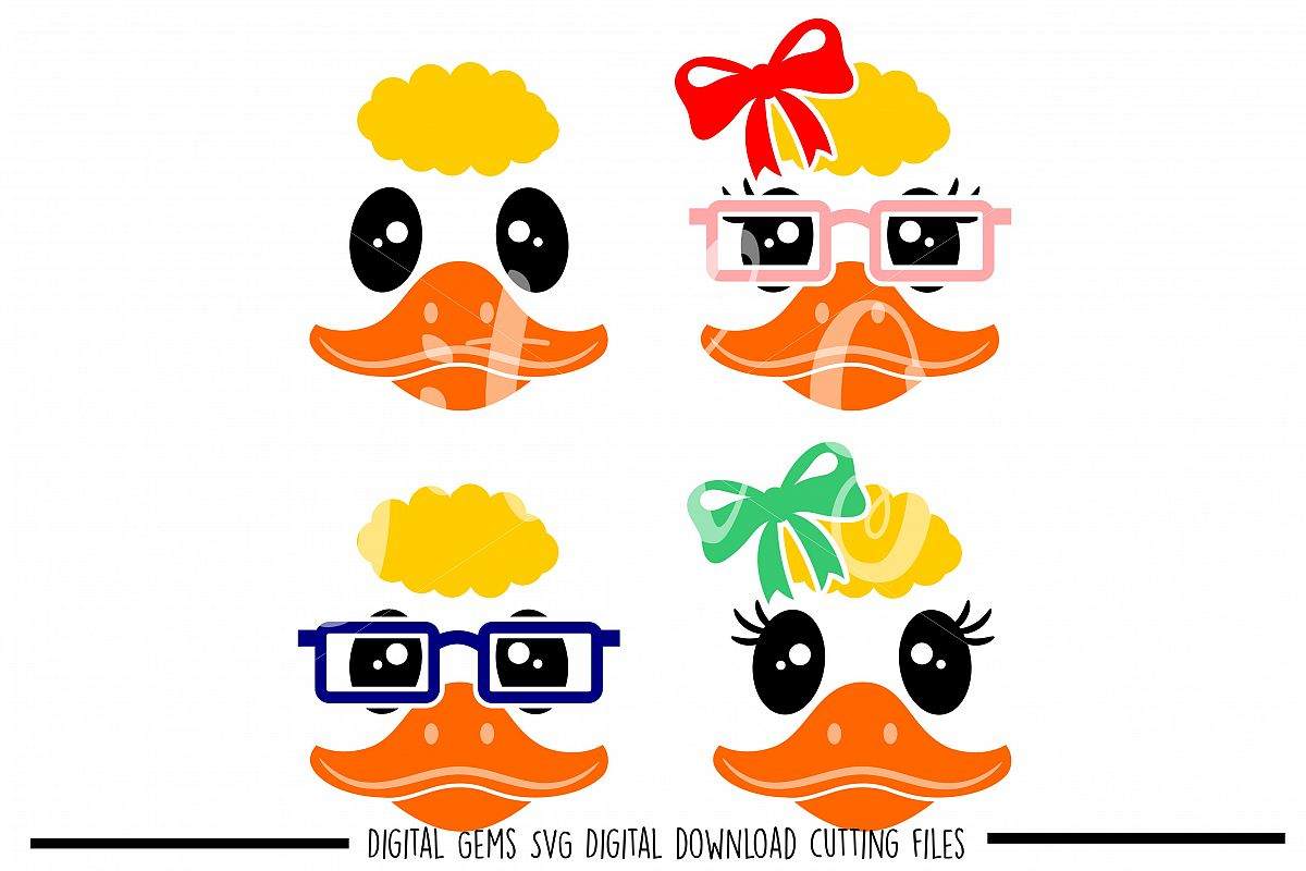 Duck Faces SVG / DXF / EPS / PNG files example image 1