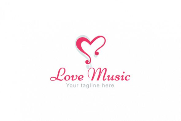 Love Music - Alphabetic Stock Logo Template example image 1