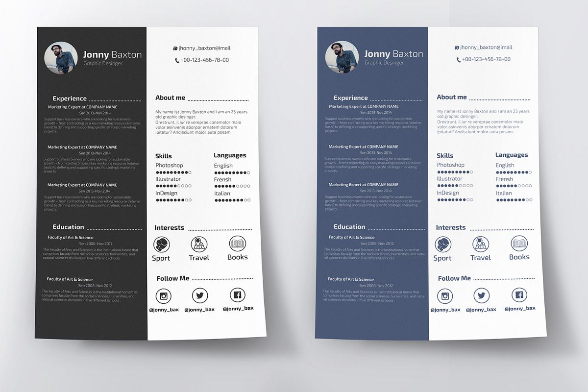 Clean Resume example image 1