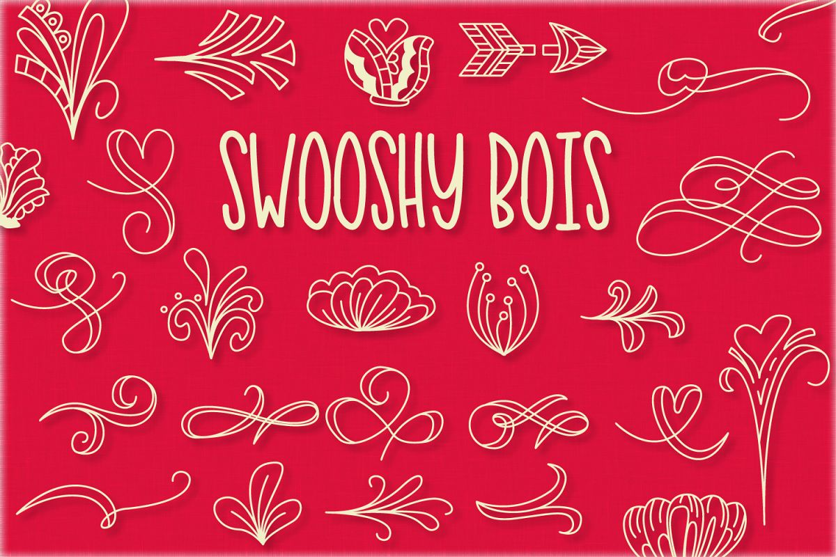Swooshy Bois - Doodle Font example image 1