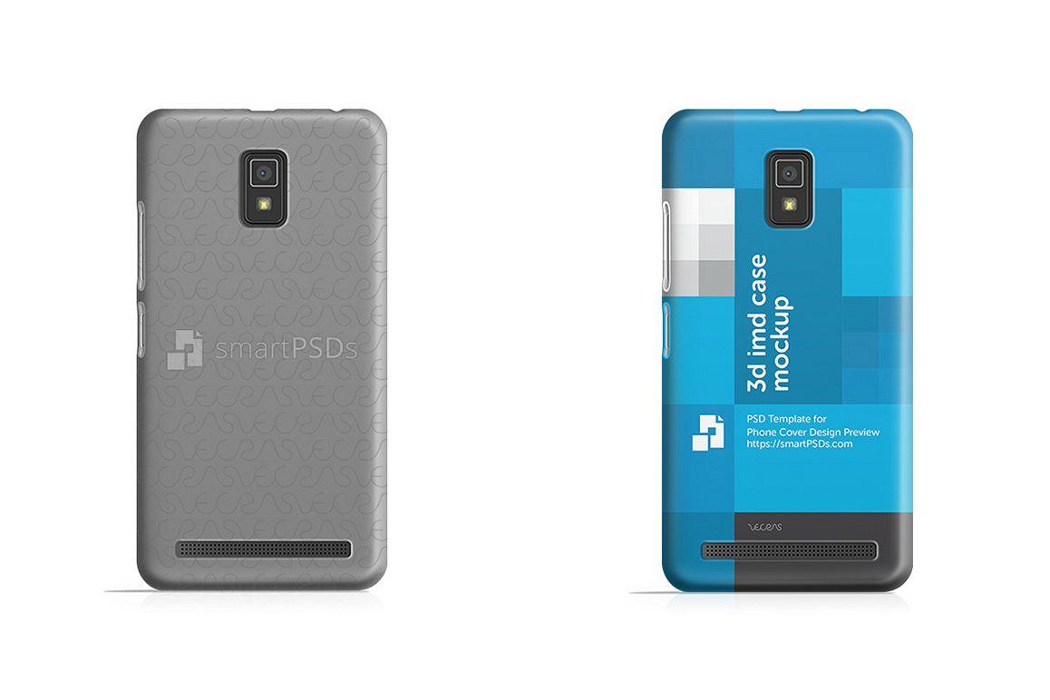 Lenovo A6600 3d IMD Mobile Case Design Mockup 2016  example image 1