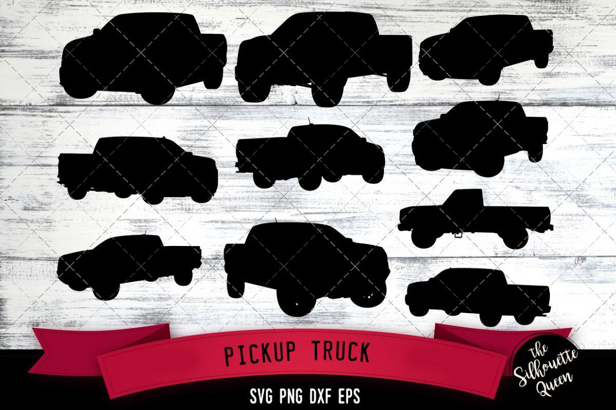 Pickup Truck svg file, car svg cut file, silhouette studio example image 1