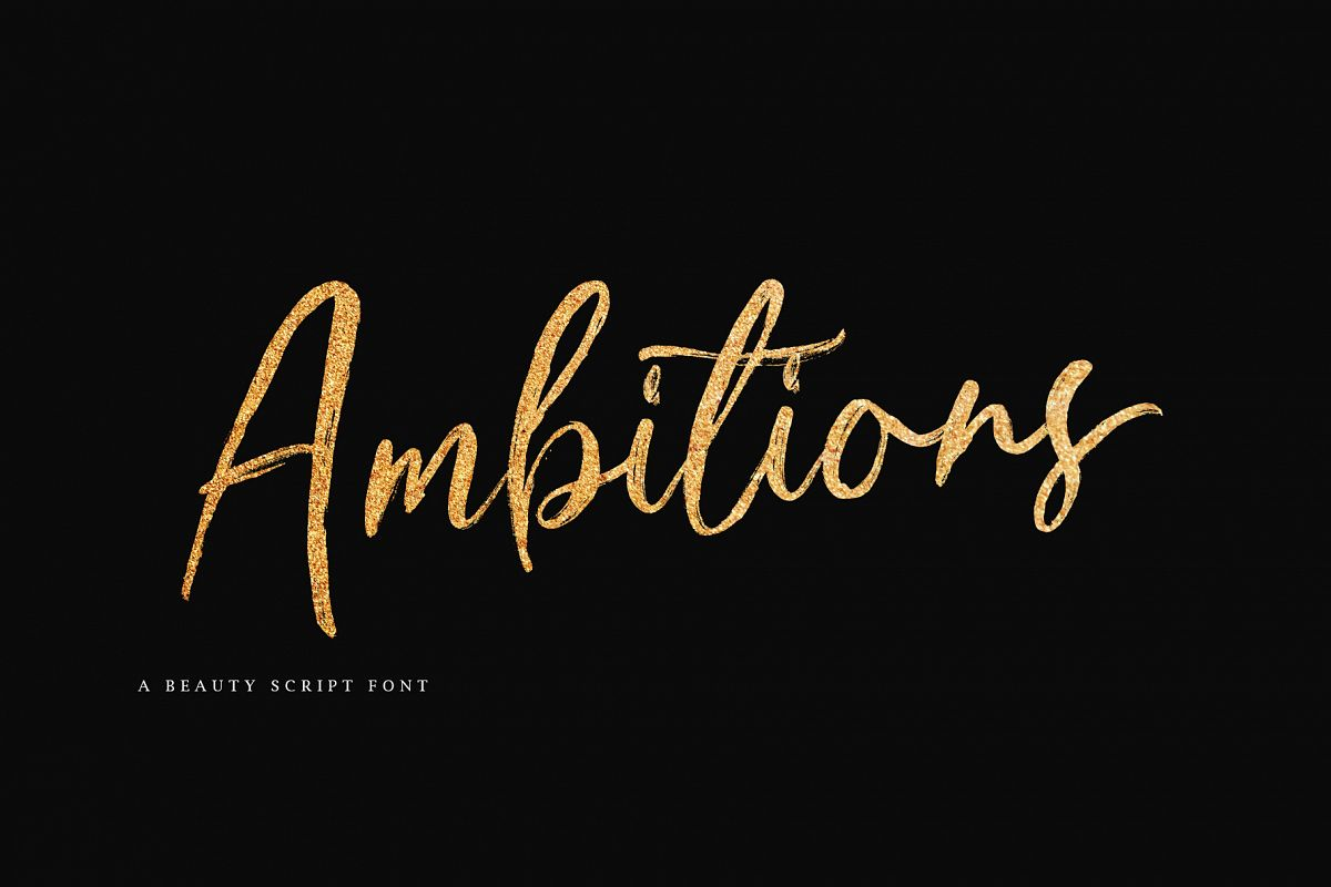 Ambitions Font example image 1