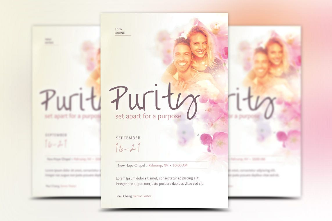 Purity Church Flyer Template example image 1