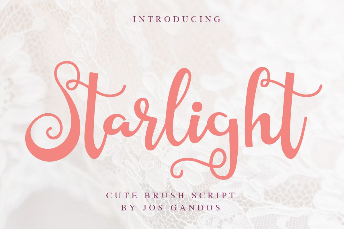 Starlight Script Style example image 1