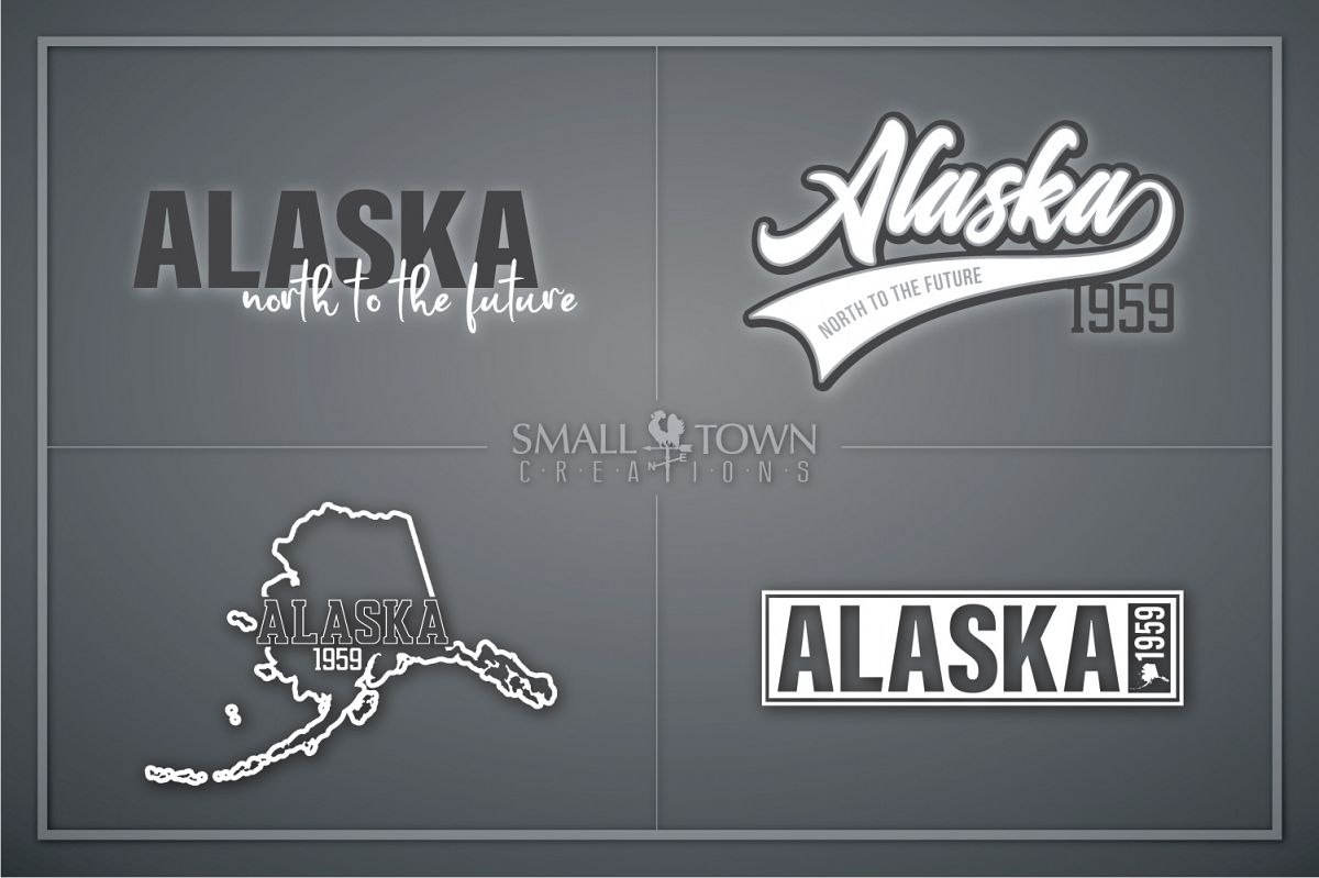 Alaska, North to the Future, Logo, PRINT, CUT & DESIGN example image 1