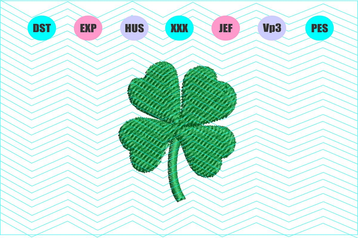 mini shamrock machine embroidery design instant download example image 1