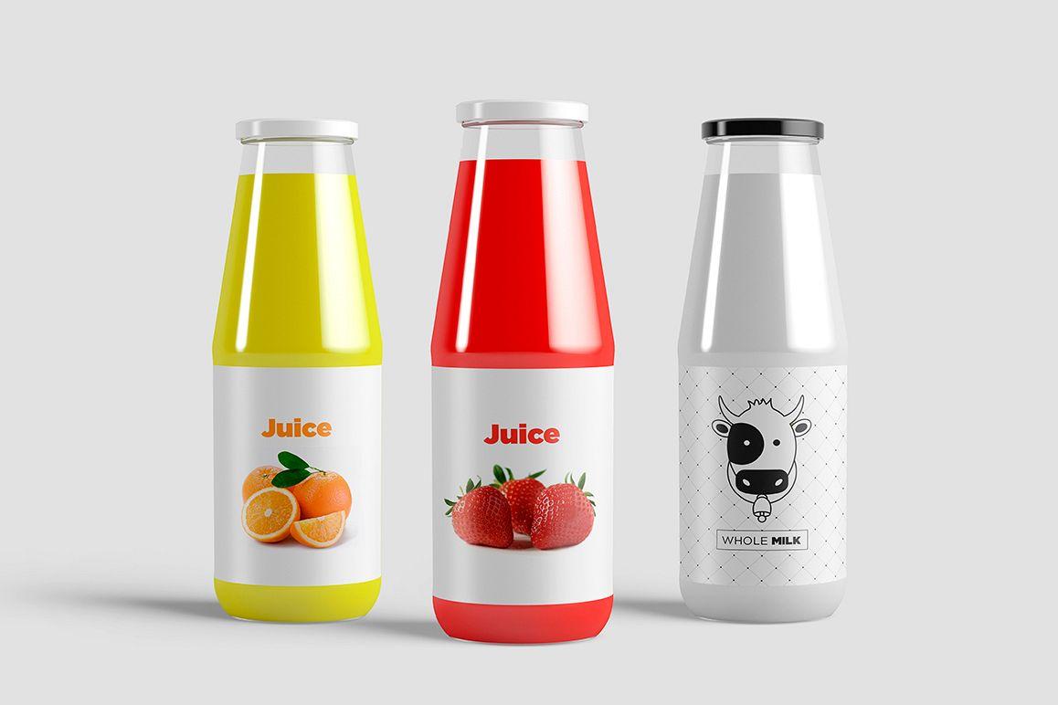Juice Bottle Mock-Up example image 1
