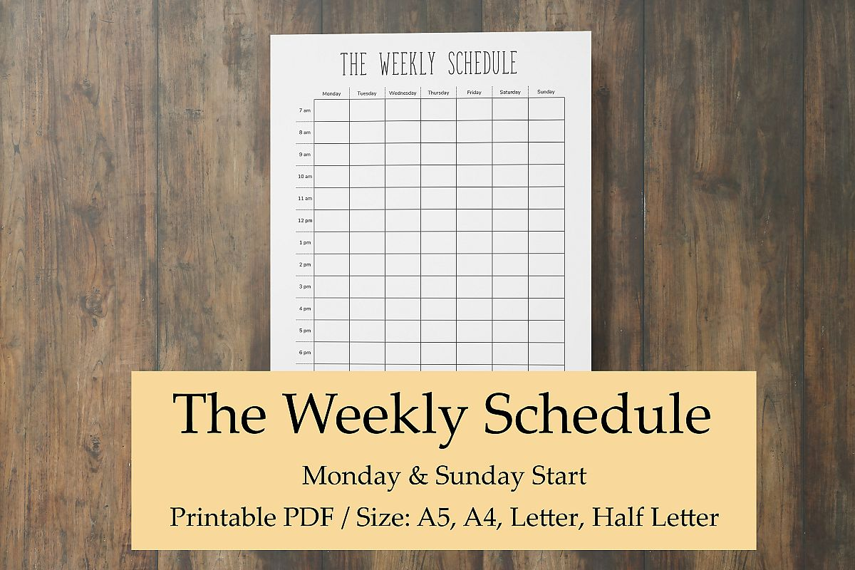 picture about Printable Hourly Planners titled Weekly Timetable Printable, Hourly Planner Webpages, Weekly Year
