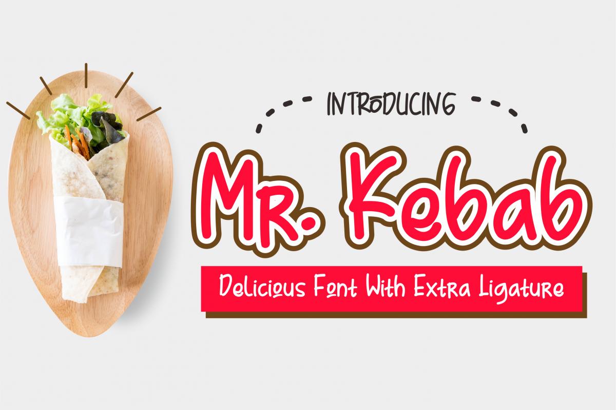 Mr. Kebab - Script Font example image 1