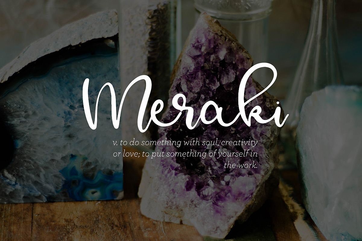 Meraki - A Flowing Script example image 1