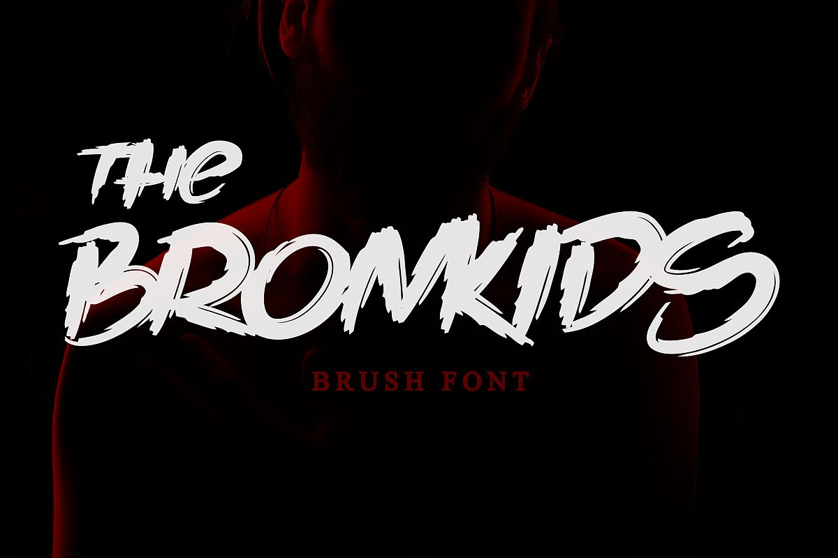The Bronkids // Brush Font example image 1