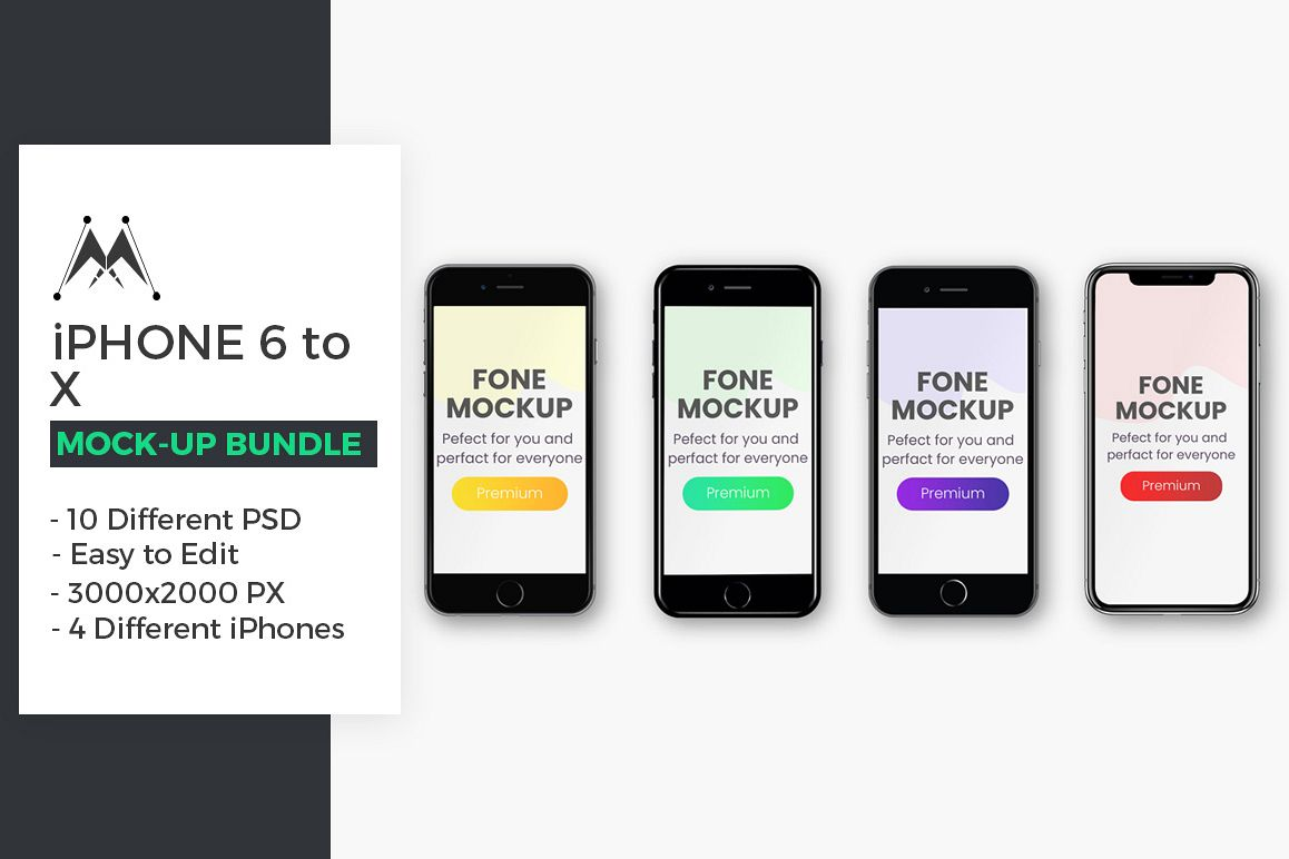 iPhone Mockup Bundle example image 1