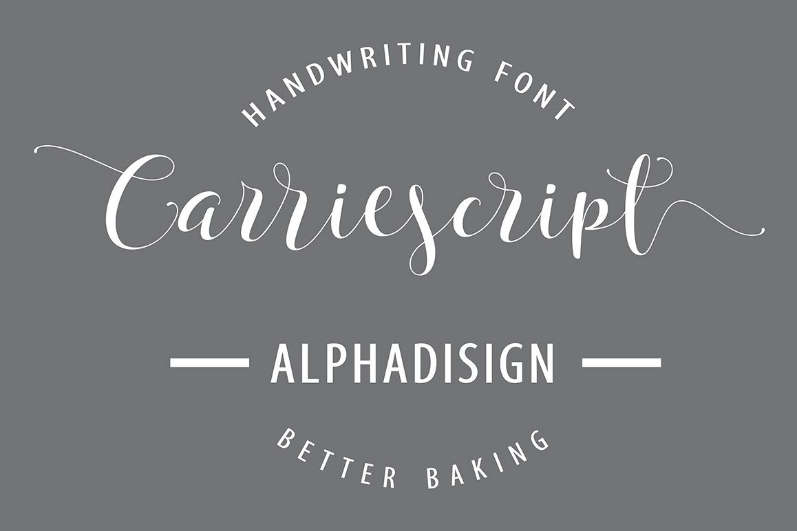 Carriescript Fonts ScriptExtrasSans example image 1