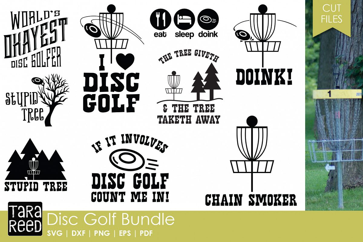 Disc Golf SVG & Cut Files for Crafters example image 1