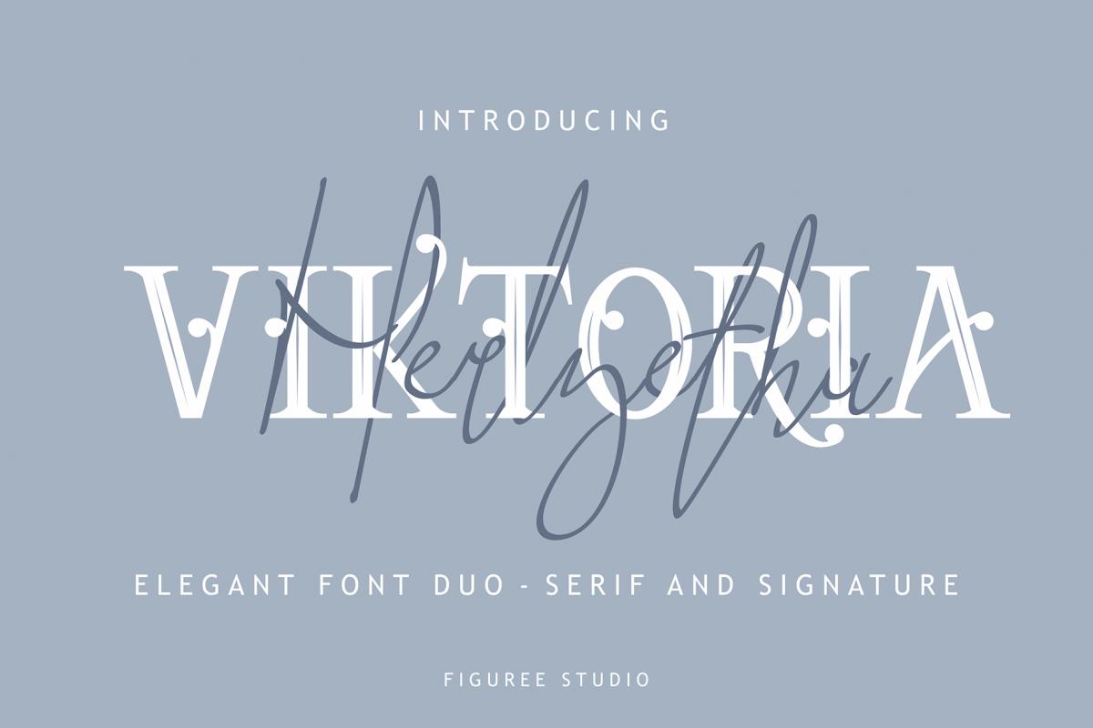 Viktoria // Elegant Font Duo example image 1