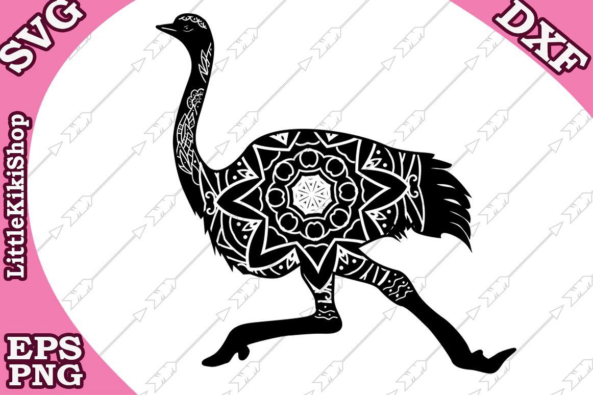 Zentangle Ostrich Svg,Mandala Ostrich Svg,Zentangle animal example image 1