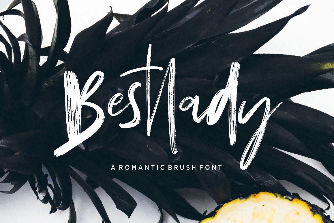 Bestlady Brush Font example image 1