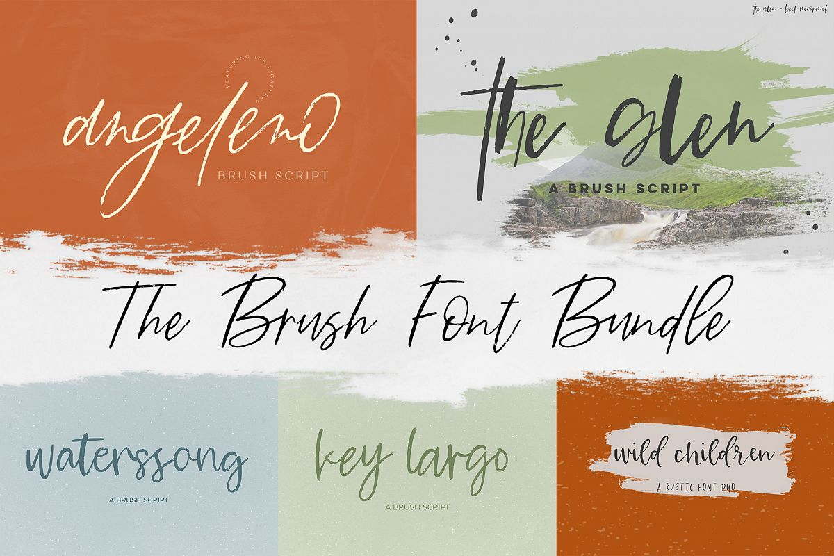 The Brush Font Bundle example image 1