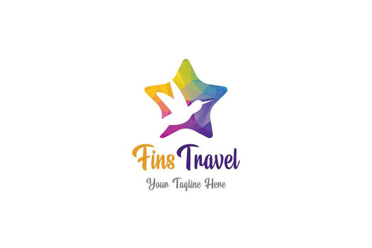 Flying Dove, Travel Logo example image 1