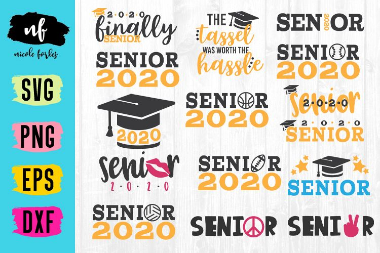 Senior 2020 Graduation SVG Bundle example image 1