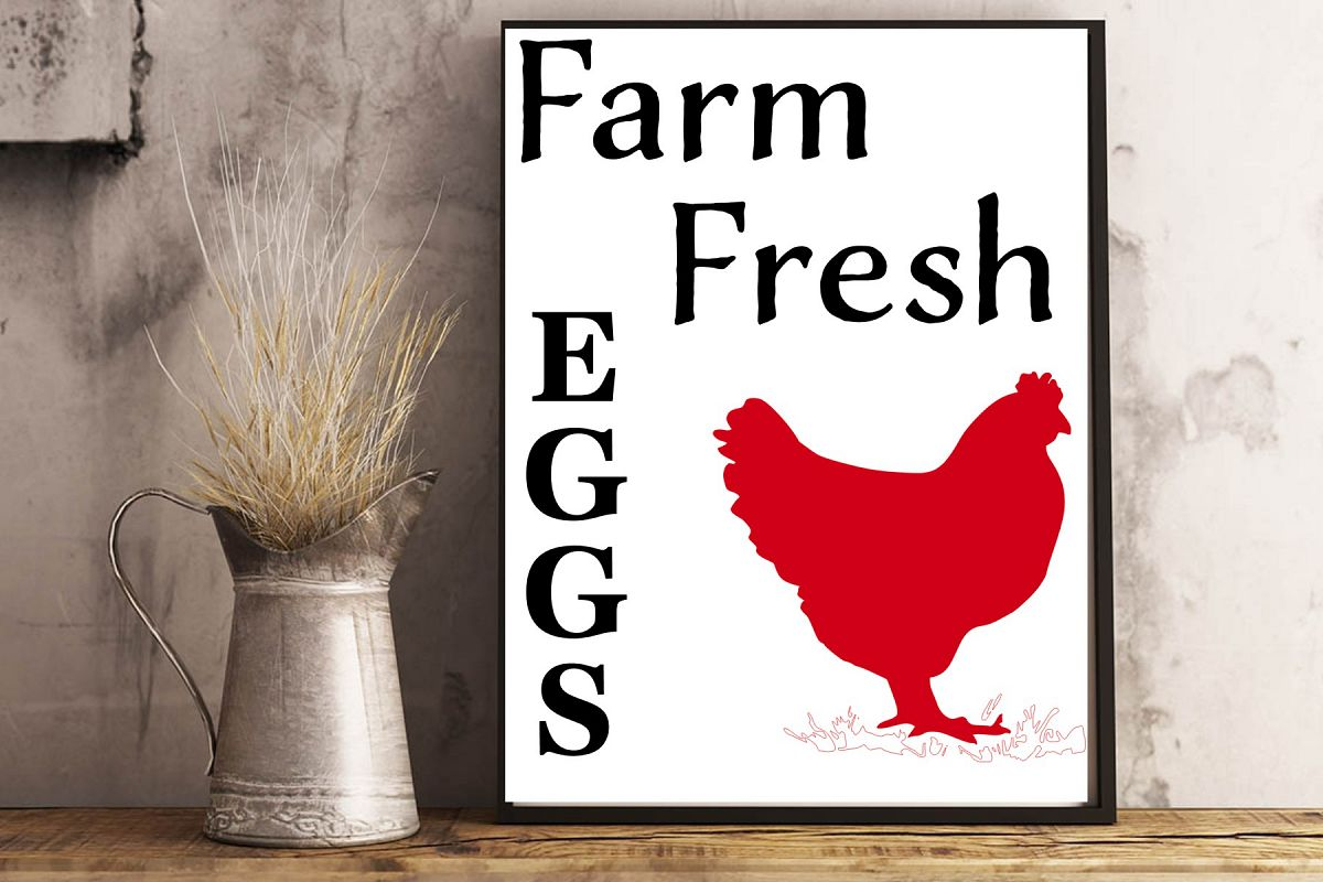 Farm fresh eggs with chicken example image 1