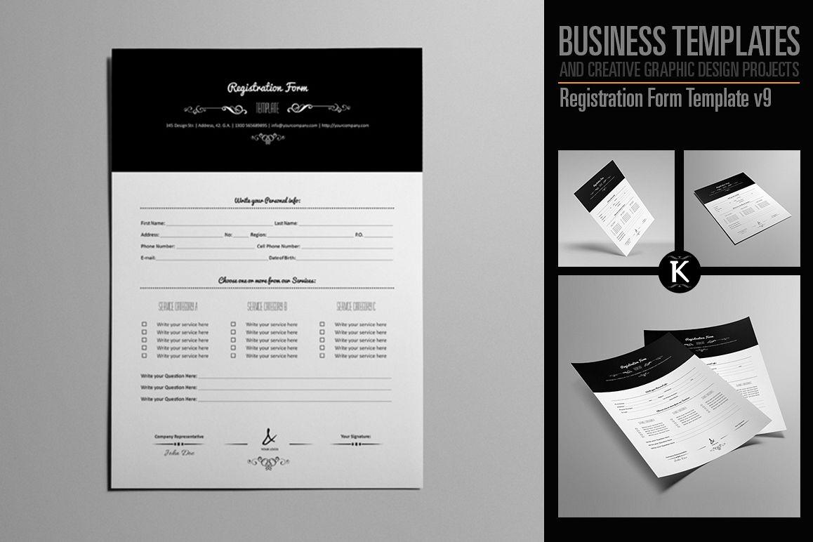 Registration Form Template v9 example image 1