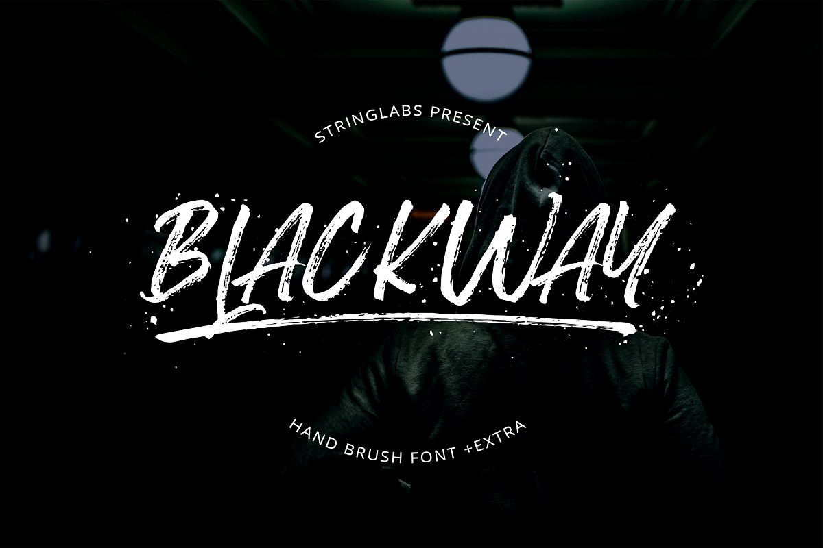 Blackway - Handbrush Font example image 1
