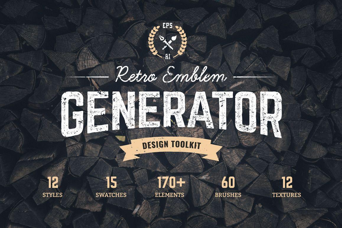 Logo maker retro emblem generator example image 1