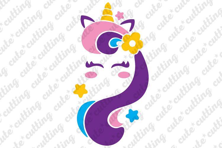 Unicorn face svg, Unicorn head svg, Unicorn svg, dxf, png example image 1