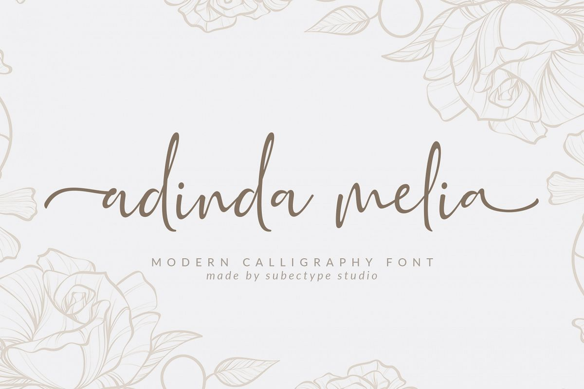 Adinda Melia / Handwritten Script example image 1