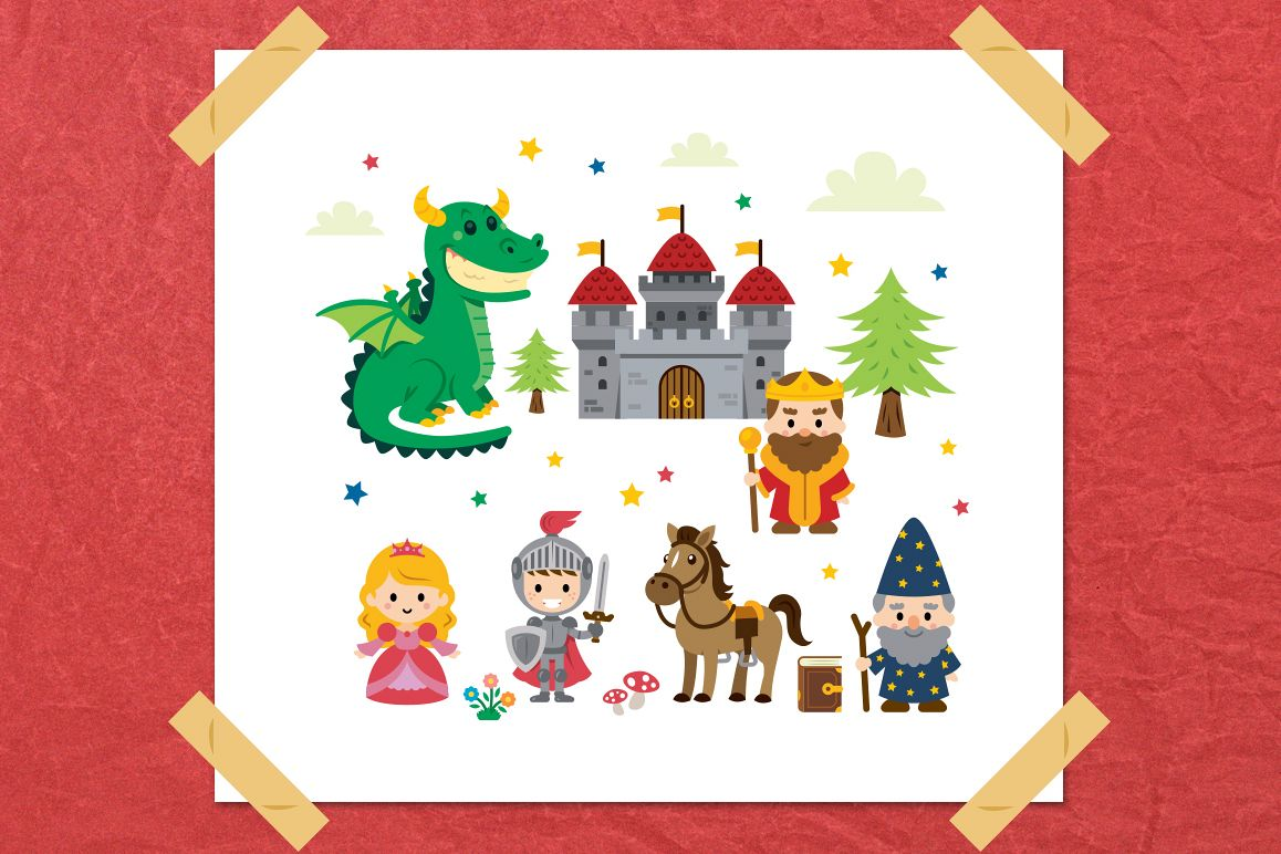 Fantasy Fairy Tale Clipart kit example image 1