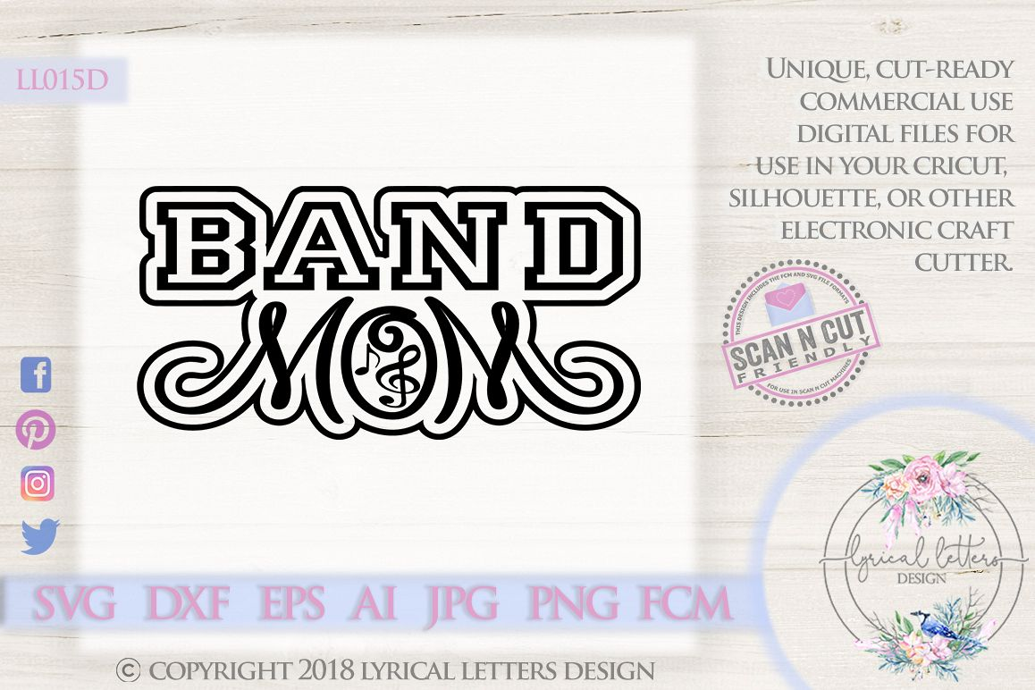 Band Mom SVG DXF Cut File LL015D example image 1