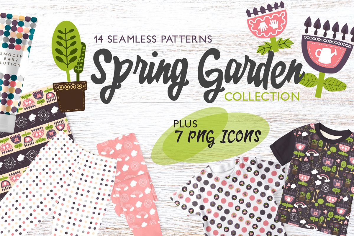 Spring Garden Pattern Collection example image 1