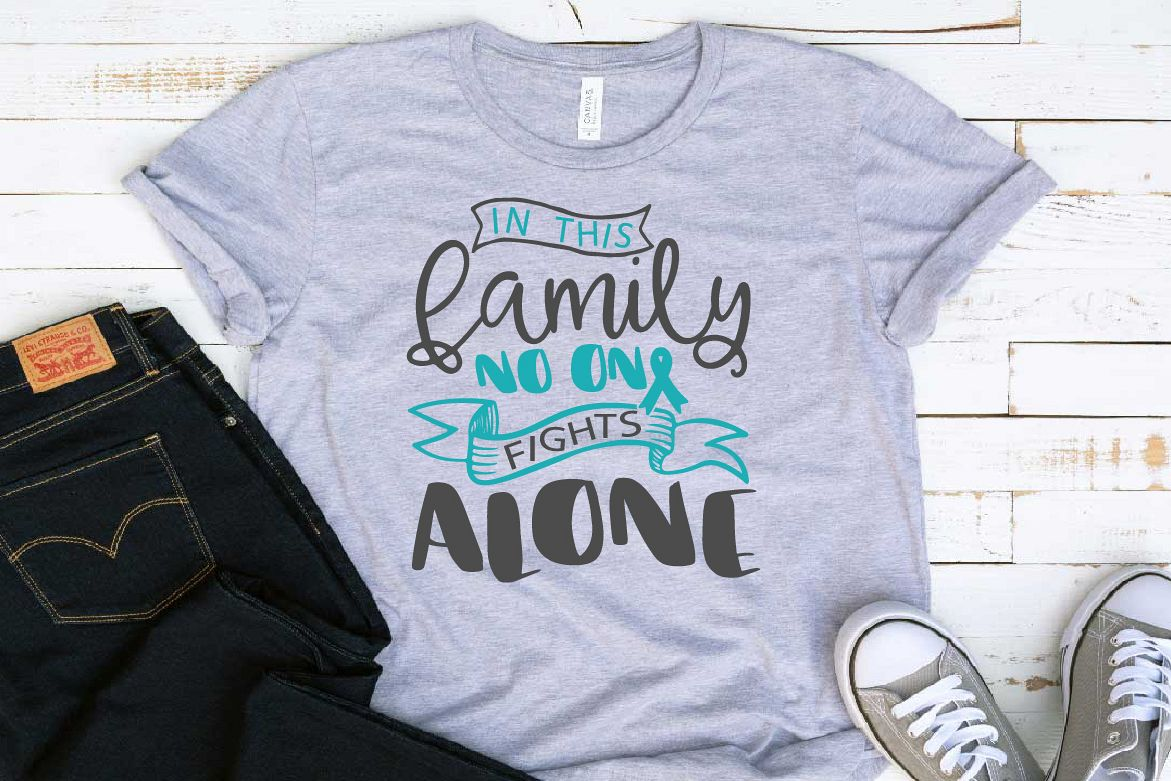 In this family no one fights alone Survivor Ovarian Cervical example image 1