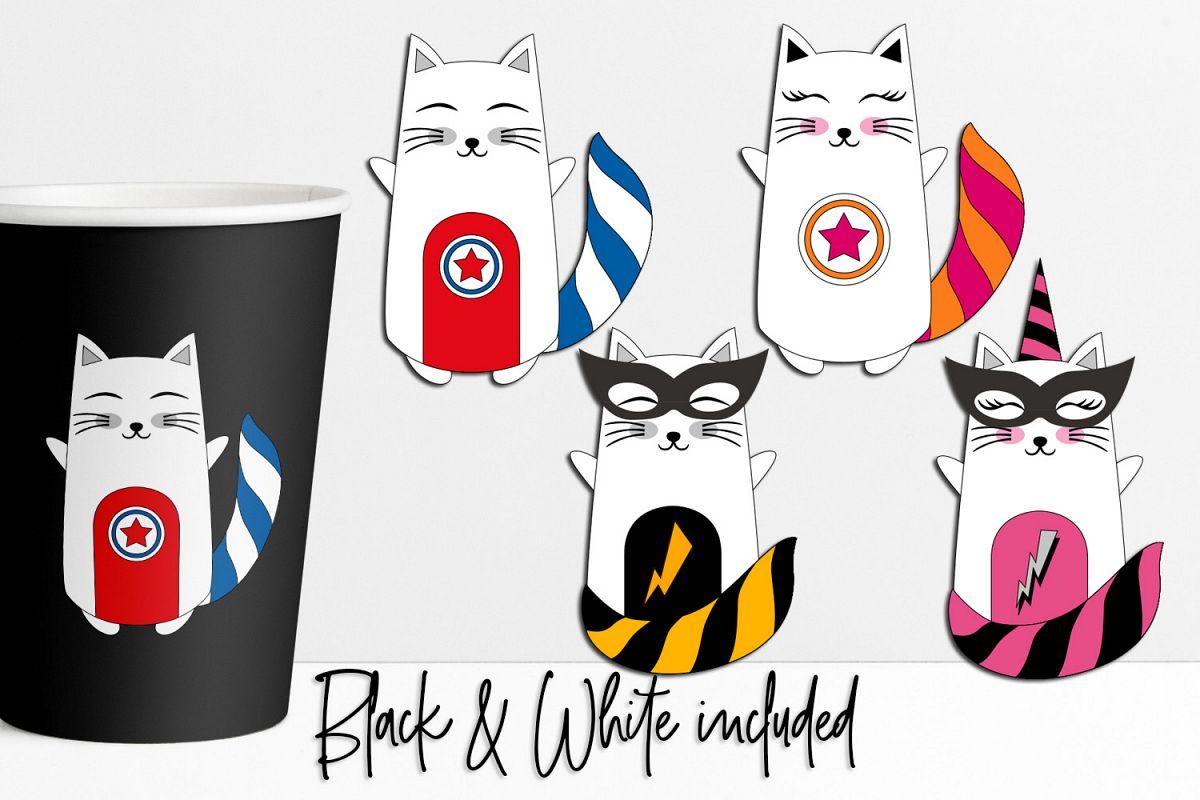 Cat Superhero Graphics example image 1