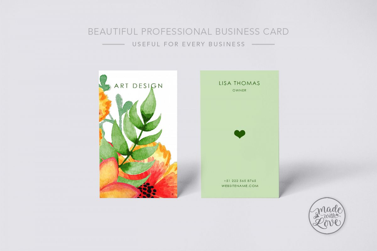 Beautiful creative art business Card example image 1