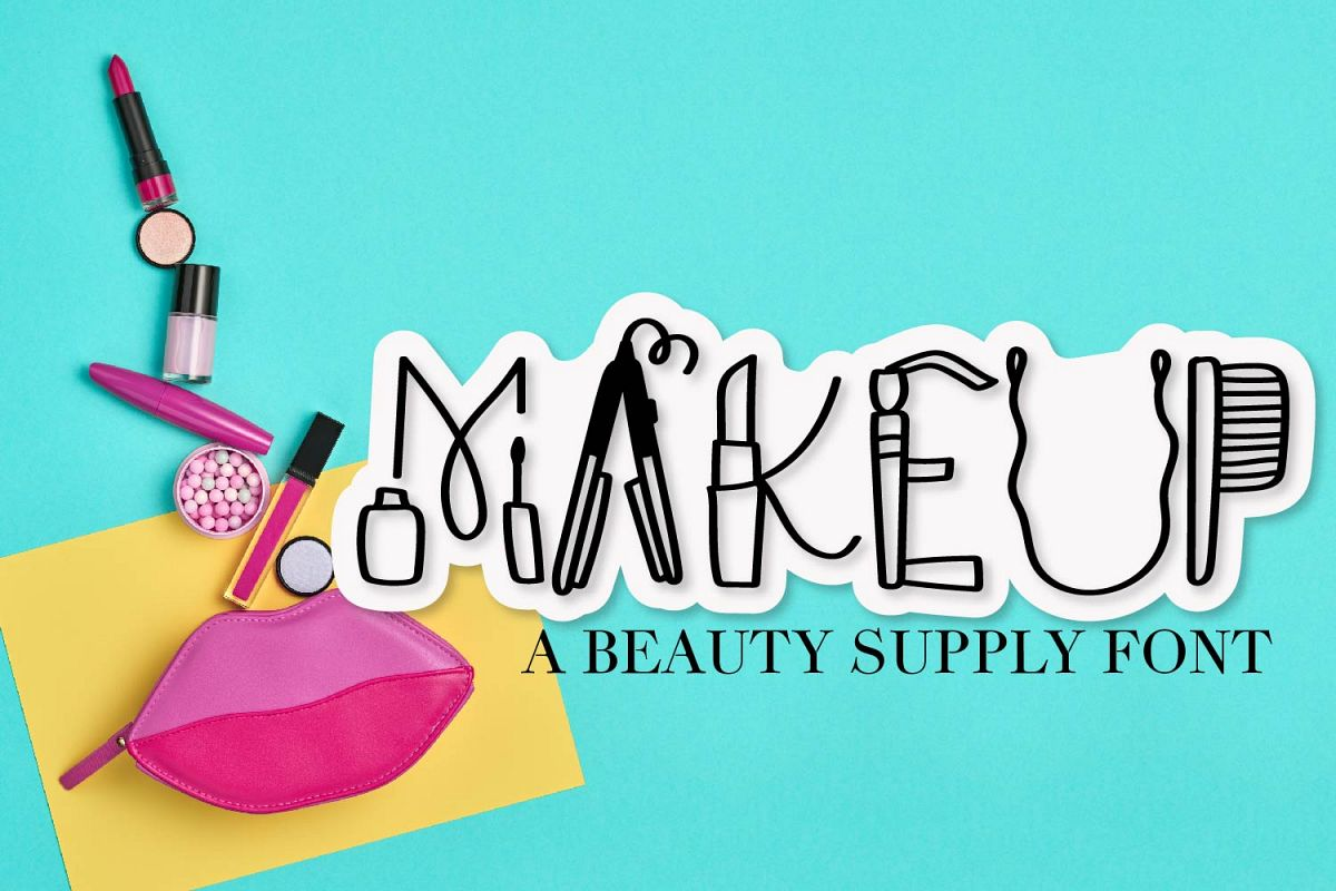 Makeup - A Beauty Supply Font perfect for Make Up Lovers example image 1
