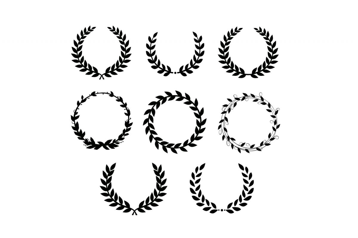 Laurel wreath SVG example image 1