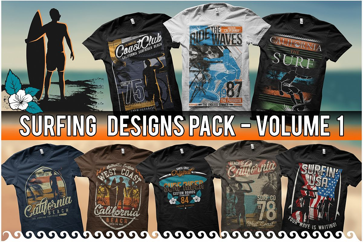 3f90ac66 Exclusive T-Shirt Design - Surfing Themes - Volume 1 example image 1