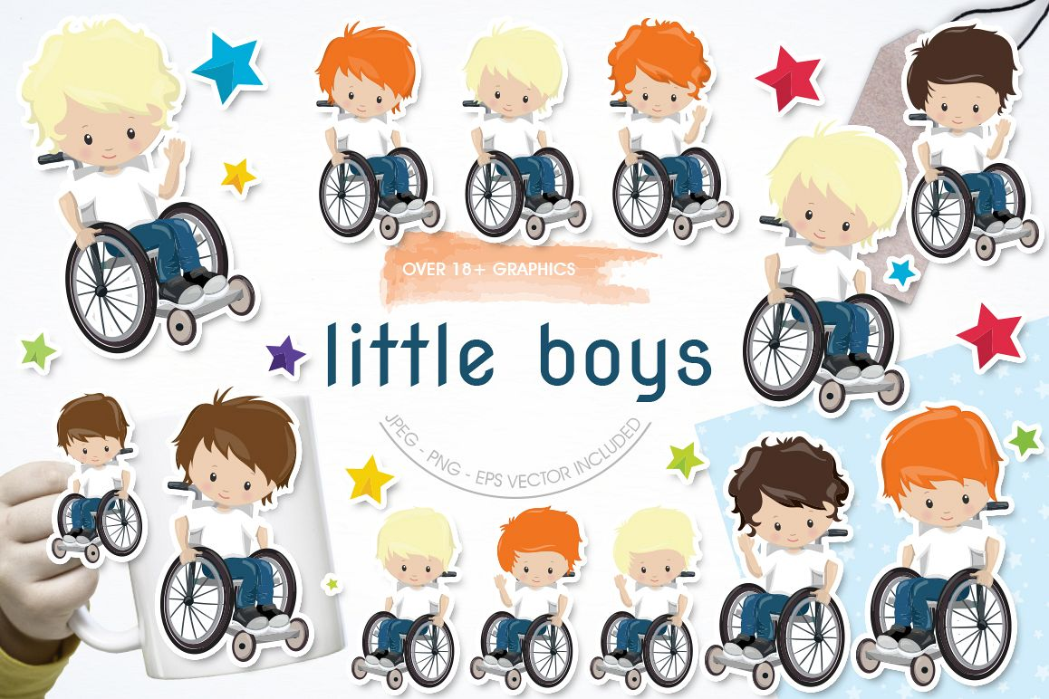 Little boys graphic and illustrations example image 1