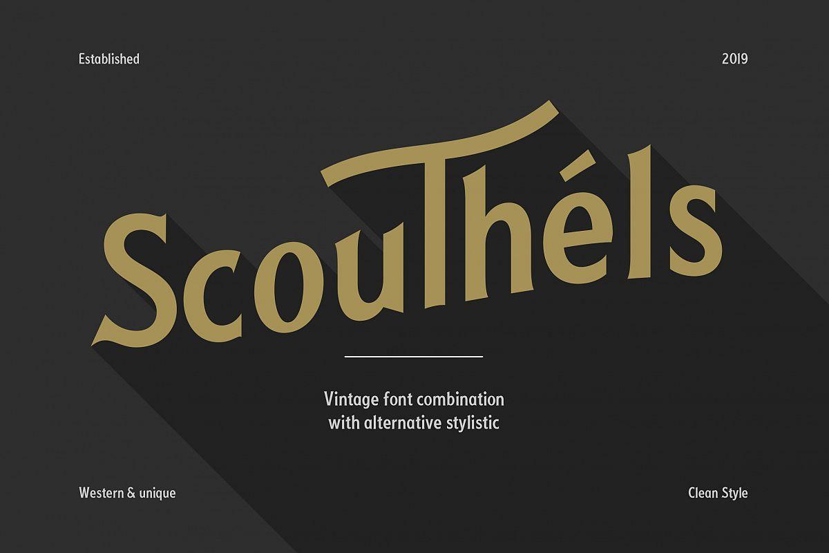 Scouthels Typeface - Clean Sans Font example image 1