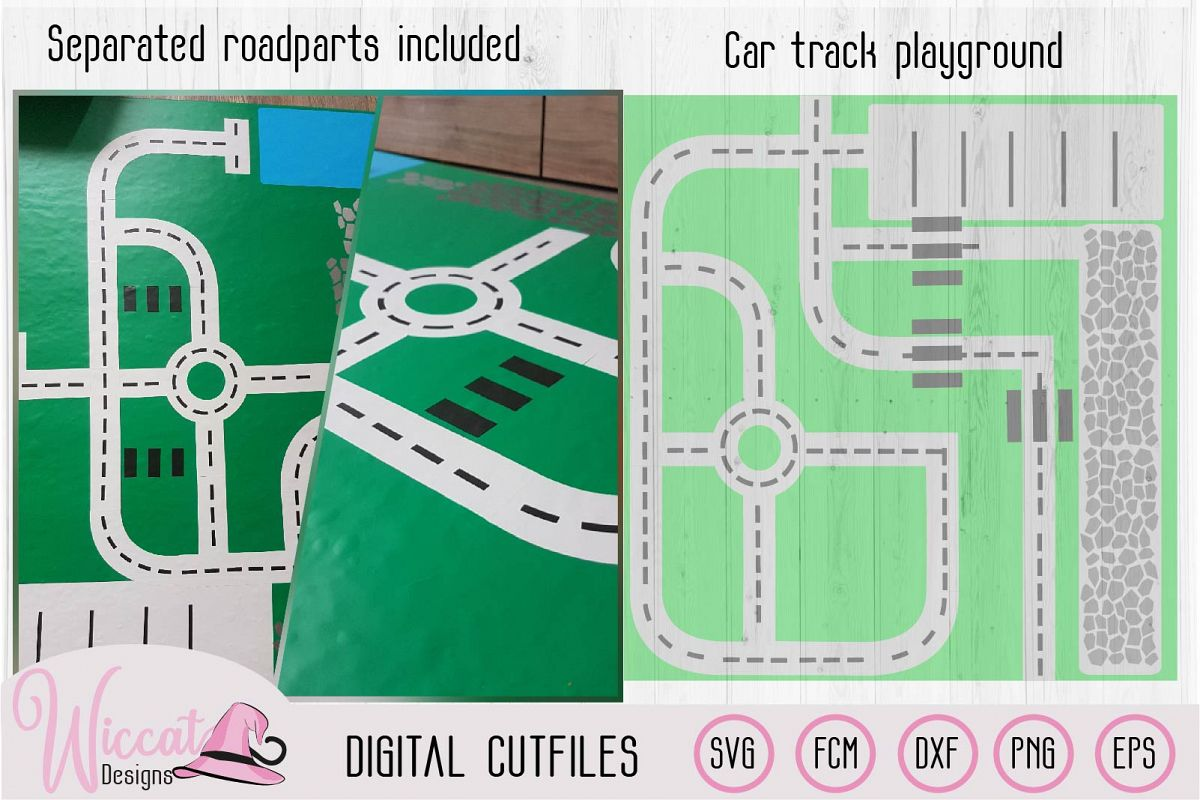 Car track, Road map, Car playground, boys design, road parts example image 1