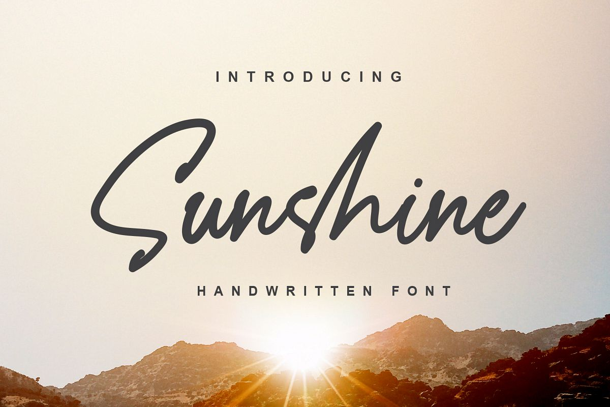 Sunshine - a Handwritten Font example image 1